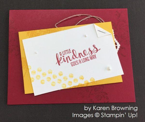by Karen Browning, Stampin' Up! swap card