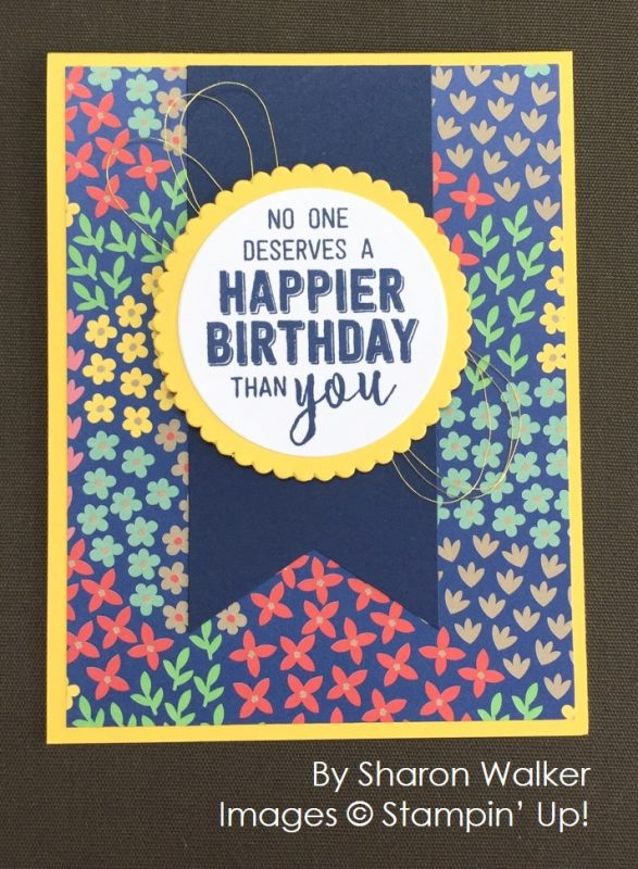 by Sharon Walker, Stampin' Up! swap card