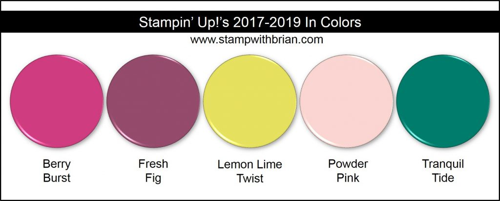 Stampin' Up! 2017-2019 In Colors, Brian King