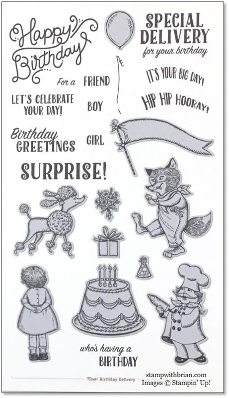 Birthday Delivery, Stampin' Up!, Brian King