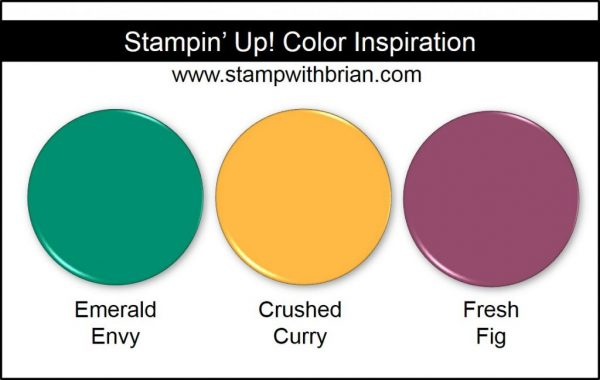 Stampin' Up! Color Inspiration: Emerald Envy, Crushed Curry, Fresh Fig