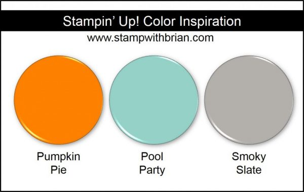 Stampin' Up! Color Inspiration: Pumpkin Pie, Pool Party, Smoky Slate