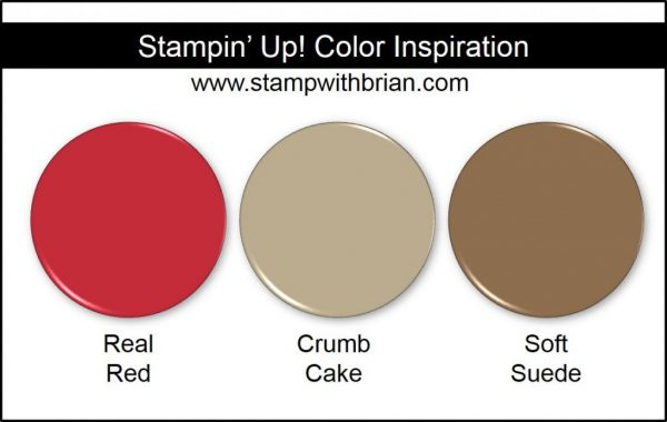 Stampin' Up! Color Inspiration: Real Red, Crumb Cake, Soft Suede