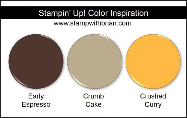 Stampin' Up! Color Inspiration: Early Espresso, Crumb Cake, Crushed Curry