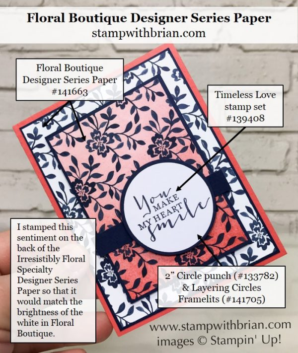 Timeless Love, Floral Boutique Designer Series Paper, Stampin' Up!, Brian King, GDP081