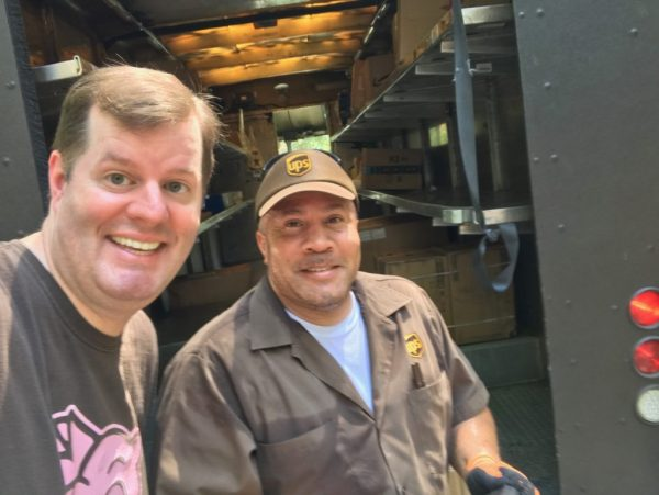 The UPS truck is here!, Brian King