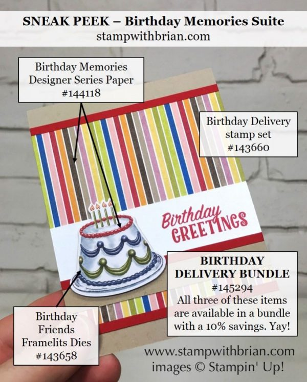 Birthday Delivery, Birthday Memories Designer Series Paper, Stampin' Up!, Brian King
