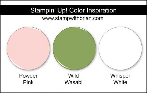 Stampin' Up! Color Inspiration: Powder Pink, Wild Wasabi, Whisper White