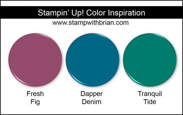 Stampin' Up! Color Inspiration: Fresh Fig, Dapper Denim, Tranquil Tide