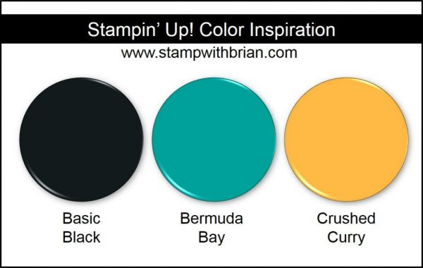 Stampin' Up! Color Inspiration: Basic Black, Bermuda Bay, Crushed Curry