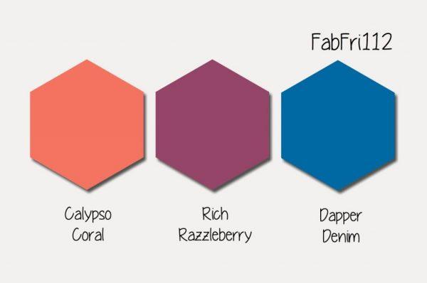 Stampin' Up! Color Inspiration: Calypso Coral, Rich Razzleberry, Dapper Denim