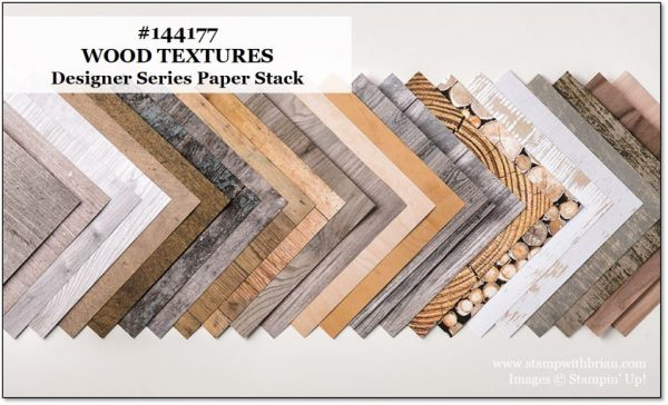 Wood Textures Designer Series Paper Stack, Stampin' Up!, Brian King