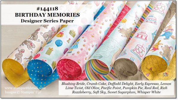 Birthday Memories Designer Series Paper, Stampin' Up!