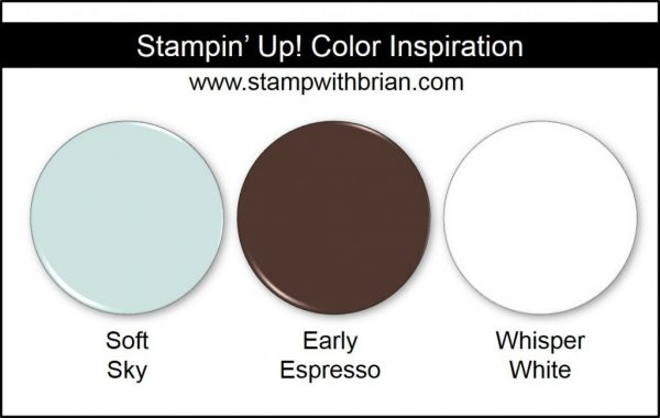 Stampin' Up! Color Inspiration: Soft Sky, Early Espresso, Whisper White