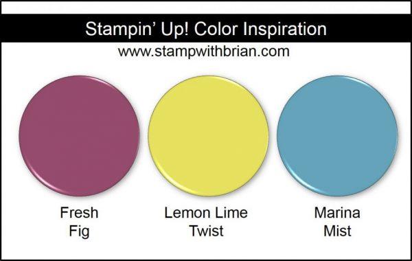 Stampin' Up! Color Combination: Fresh Fig, Lemon Lime Twist, Marina Mist