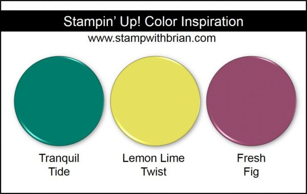 Stampin' Up! Color Inspiration: Tranquil Tide, Lemon Lime Twist, Fresh Fig