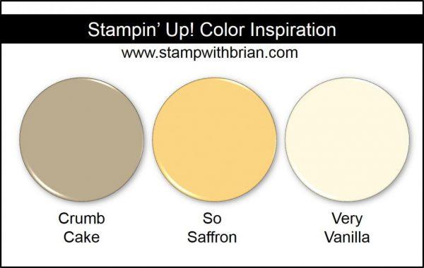 Stampin' Up! Color Inspiration: Crumb Cake, So Saffron, Very Vanilla