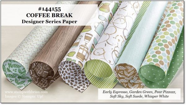 Coffee Break Designer Series Paper, Stampin' Up!