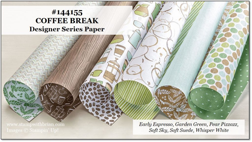 Coffee Break Designer Series Paper for CTS241 – STAMP WITH BRIAN