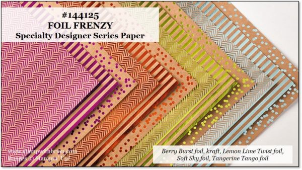 Foil Frenzy Specialty Designer Series Paper, Stampin' Up!
