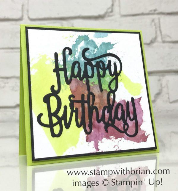 Happy Birthday Thinlits Die, Stampin' Up!, Brian King