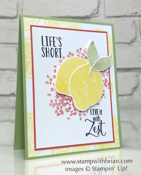 Lemon Zest, Lemon Builder Punch, Stampin' Up!, Brian King, GDP090