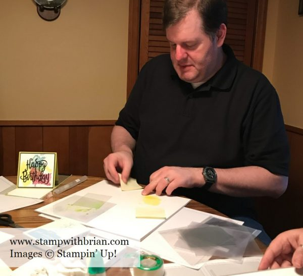 Smooshing Technique, Stampin' Up!, Brian King