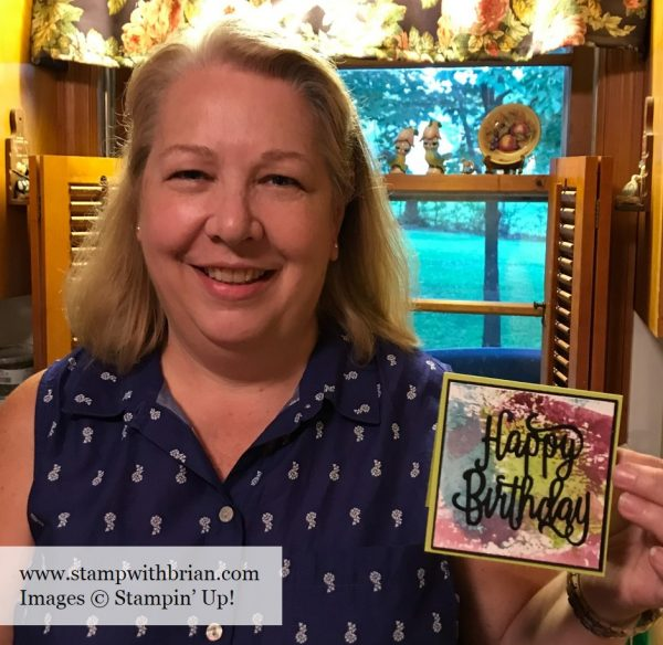 Smooshing Technique - Selina, Stampin' Up!, Brian King