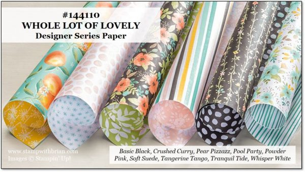 Whole Lot of Lovely Designer Series Paper, Stampin' Up!