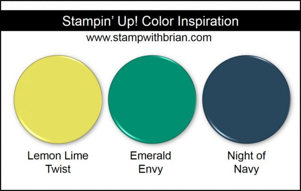 Stampin' Up! Color Inspiration: Lemon Lime Twist, Emerald Envy, Night of Navy