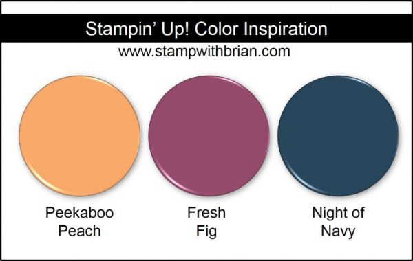 Stampin' Up! Color Inspiration: Peekaboo Peach, Fresh Fig, Night of Navy