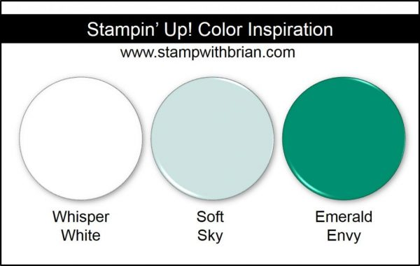 Stampin' Up! Color Inspiration: Whisper White, Soft Sky, Emerald Envy