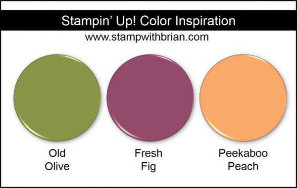 Stampin' Up! Color Inspiration: Old Olive, Fresh Fig, Peekaboo Peach