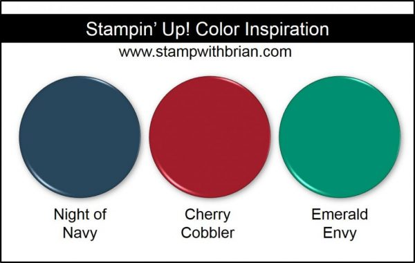 Stampin' Up! Color Inspiration: Night of Navy, Cherry Cobbler, Emerald Envy