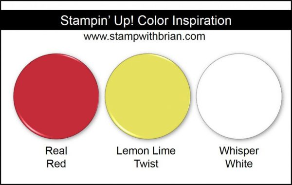 Stampin' Up! Color Inspiration: Real Red, Lemon Lime Twist, Whisper White