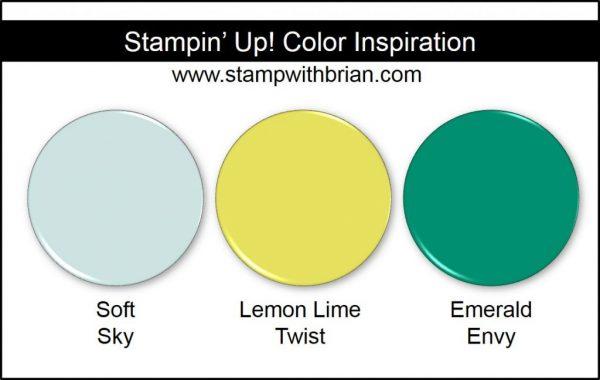 Stampin' Up! Color Inspiration: Soft Sky, Lemon Lime Twist, Emerald Envy