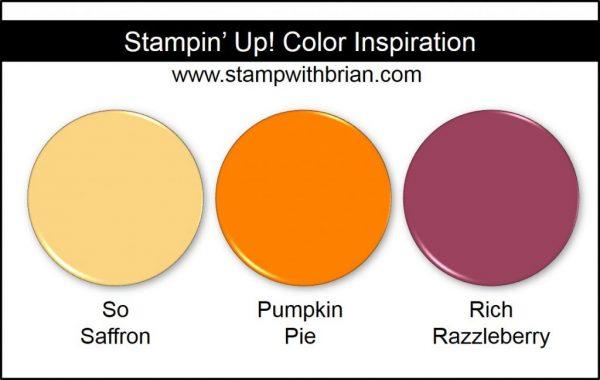 Stampin' Up! Color Inspiration: So Saffron, Pumpkin Pie, Rich Razzleberry