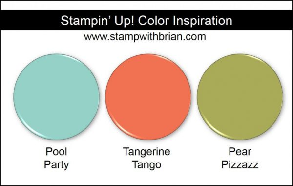 Stampin' Up! Color Inspiration: Pool Party, Tangerine Tango, Pear Pizzazz