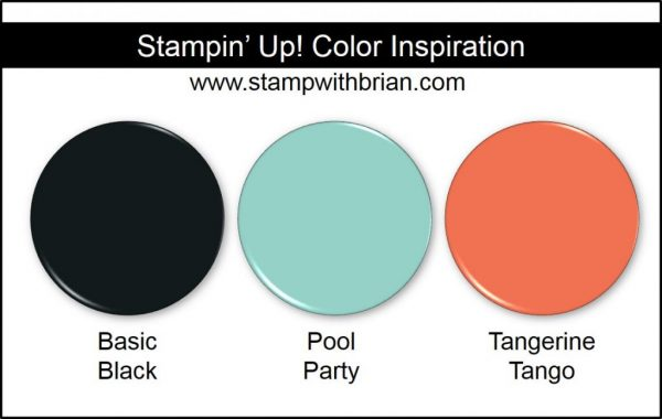 Stampin' Up! Color Inspiration: Powder: Basic Black, Pool Party, Tangerine Tango