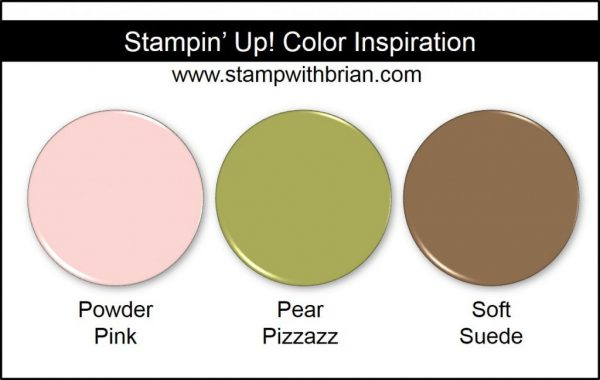Stampin' Up! Color Inspiration: Powder Pink, Pear Pizzazz, Soft Suede