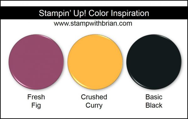 Stampin' Up! Color Inspiration: Fresh Fig, Crushed Curry, Basic Black