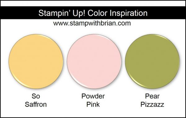 Stampin' Up! Color Inspiration: So Saffron, Powder Pink, Pear Pizzazz