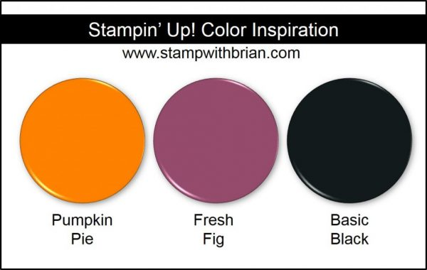 Stampin' Up! Color Inspiration: Pumpkin Pie, Fresh Fig, Basic Black