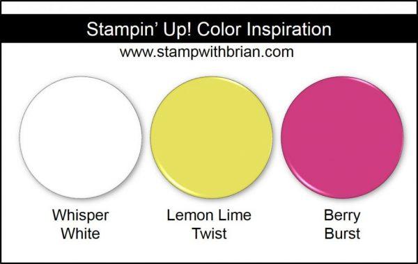 Stampin' Up! Color Inspiration: Whisper White, Lemon Lime Twist, Berry Burst