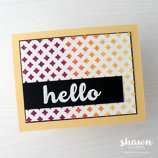 Hello Friend, Embossing Paste, Stampin' Up!, by Shawn deOliveira