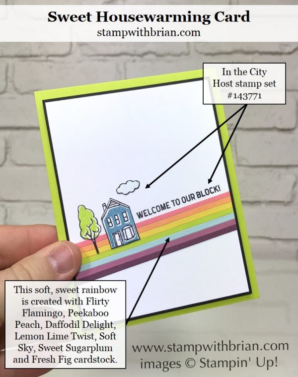 In the City, Stampin' Up!, Brian King, CTS232, housewarming card