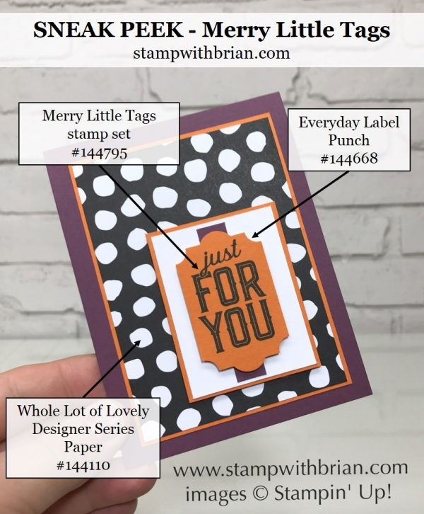 Merry Little Labels, Stampin' Up!, Brian King, 2017 Holiday Catalog