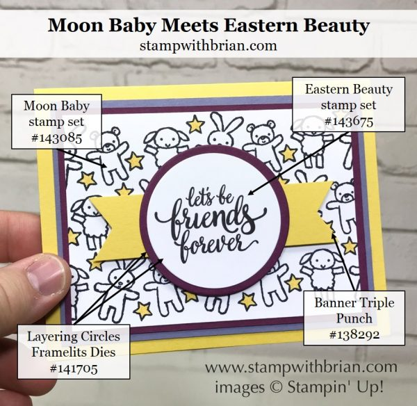 Moon Baby, Eastern Beauty, Stampin' Up!, Brian King, GDP095