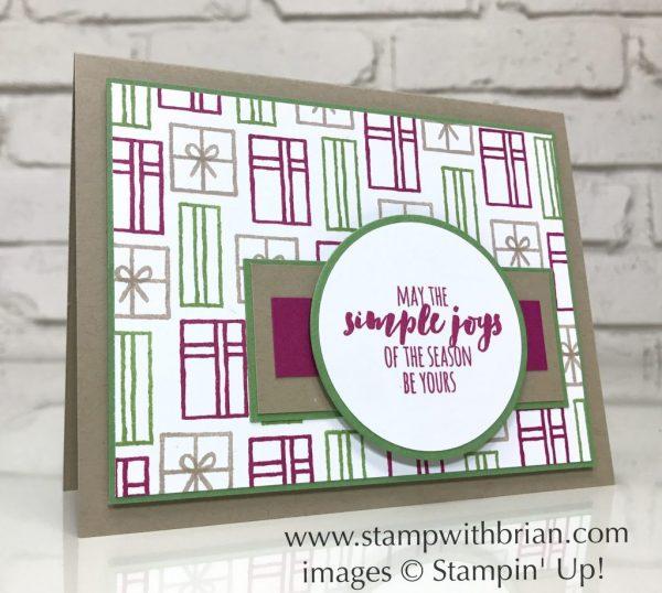Santa's Sleigh, Christmas Pines, Stampin' Up!, Brian King, Christmas card, GDP097