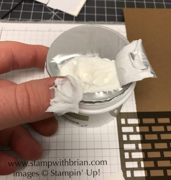 Quick Tip: Don't stick your finger right into the paste to remove the protective covering
